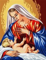 Mary with the baby